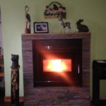 Klover Inset stove in place