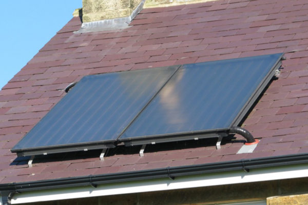 Roof mounted solar thermal panels