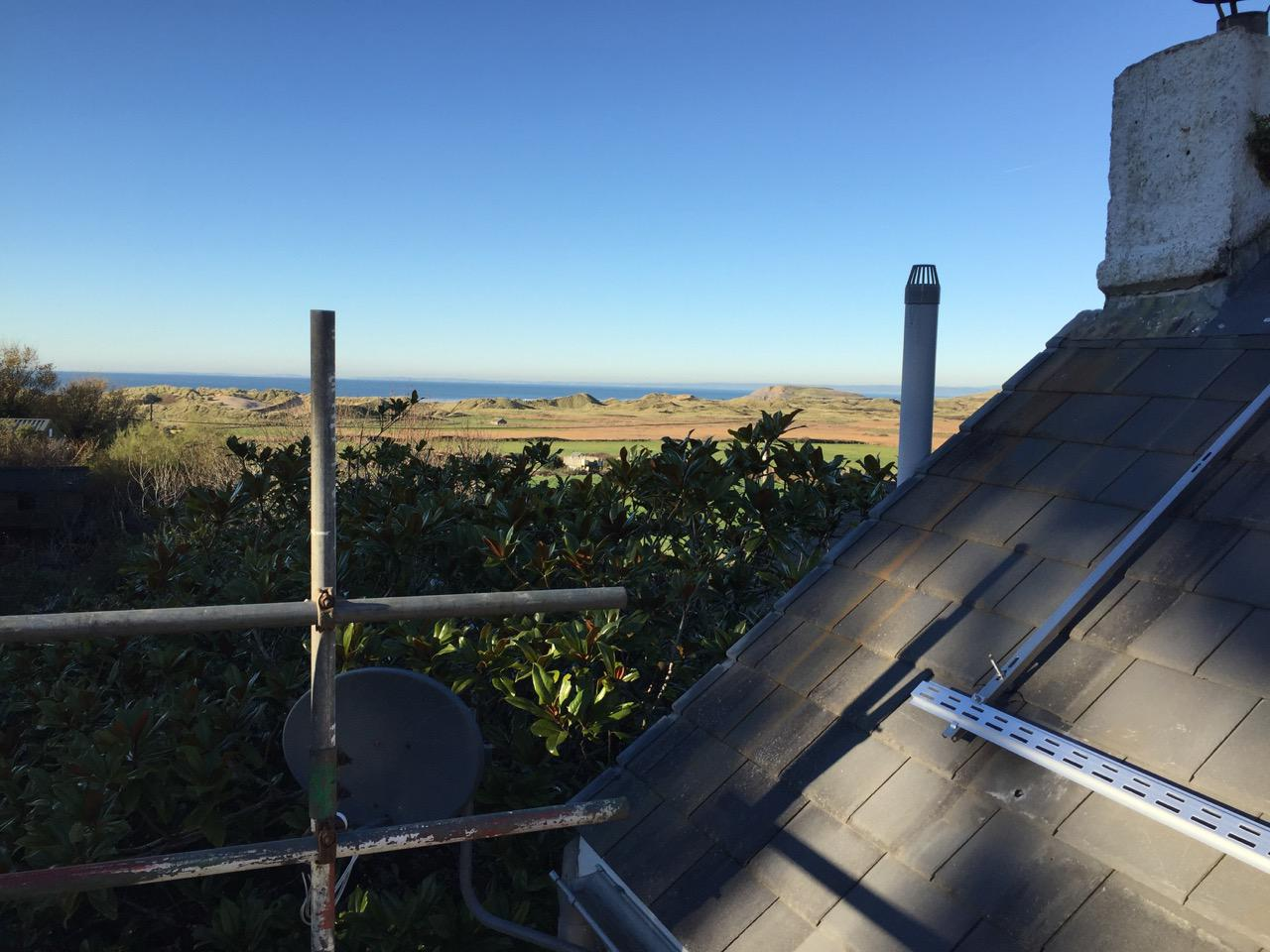 Hill End Farmhouse and Camping Roof mounted solar thermal panels
