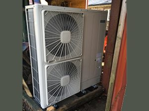 Air Source Heat Pump in Llansadwrn