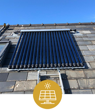 Solar Roof Home Installed by Birdshill Rural Renewable Wales
